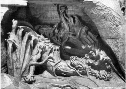 RUDOLF STEINER'S WOODEN SCULPTURE OF AHRIMAN OR LUCIFER (1917)