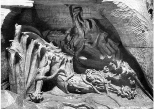 RUDOLF STEINER'S WOODEN SCULPTURE OF AHRIMAN OR LUCIFER (1917)