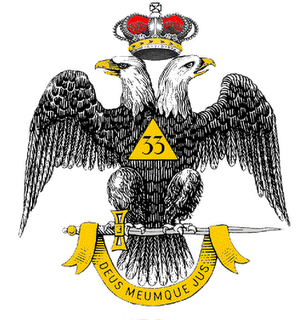 Masonic doubble headed eagle with triangle
