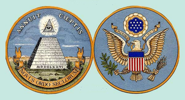 """""""On the reverse of our nation's Great Seal is an unfinished pyramid to represent human society"""