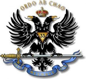 """MASONIC DOUBLE HEADED EAGLE OR PHOENIX – TRANSLATES """"ORDER OUT OF CHAOS"""""""